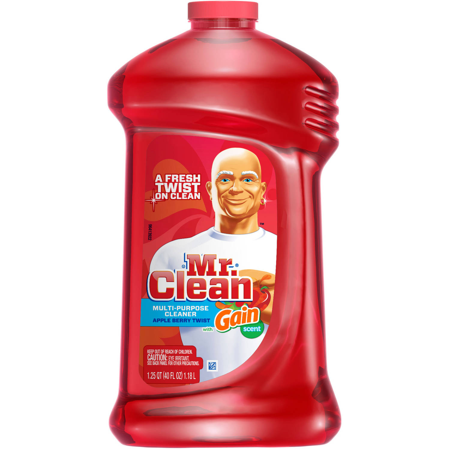 Mr. Clean Apple Berry Twist with Gain Scent Multi-Purpose Cleaner, 40 fl oz