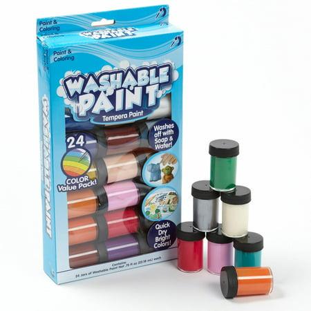 Kids Crafts Washable Tempera Paint  24Pk By Horizon Group Usa