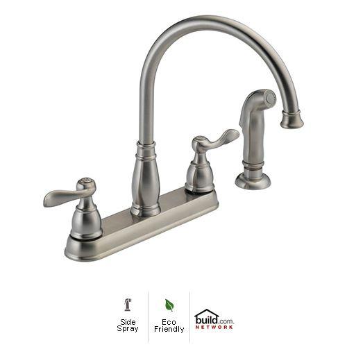 Delta Windemere B2596LF-OB Two Handle Centerset Bathroom Faucet ...