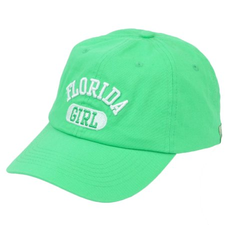 Florida Girl Mint Green Relaxed Wash Hat Cap USA City Womens Sunshine State](Mini Green Top Hat)