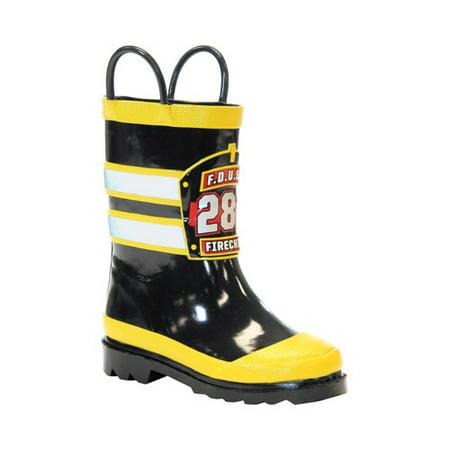 Boys' Western Chief F.D.U.S.A. Firechief Rain Boot ()