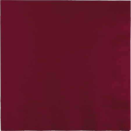 Touch of Color Dinner Napkins, 3-Ply, 1/4 Fold, Burgundy, 25 Ct