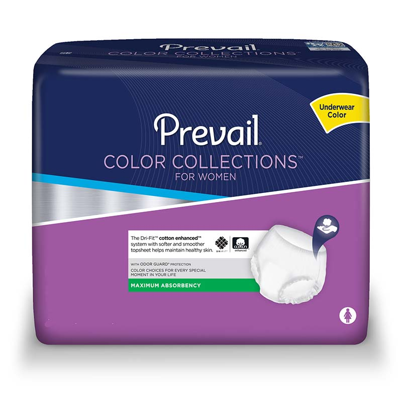 "Prevail colorcollections for women large 44"" x 54"" part no. pwv-513 (18/package)"