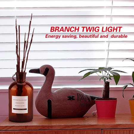 Qiilu Branch Lamp LED Home Decoration Party Light String Twig Waterproof without Battery, Branch LED Lamp , Branch Lamp - image 8 de 8