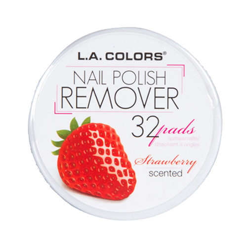 (3 Pack) L.A. COLORS Nail Polish Remover Pads - Strawberry