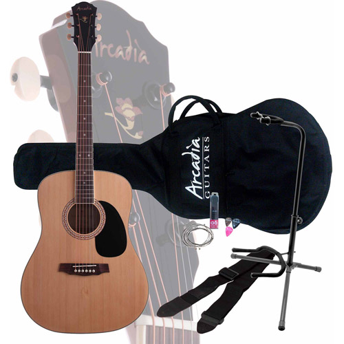 Arcadia DL41 Exclusive Acoustic Guitar Pack with On-Stage XCG4 Guitar Stand by Arcadia Dairy Farms
