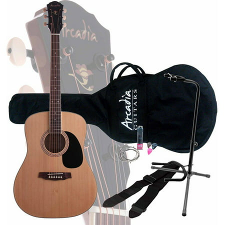 arcadia dl41 exclusive acoustic guitar pack with on stage xcg4 guitar stand. Black Bedroom Furniture Sets. Home Design Ideas