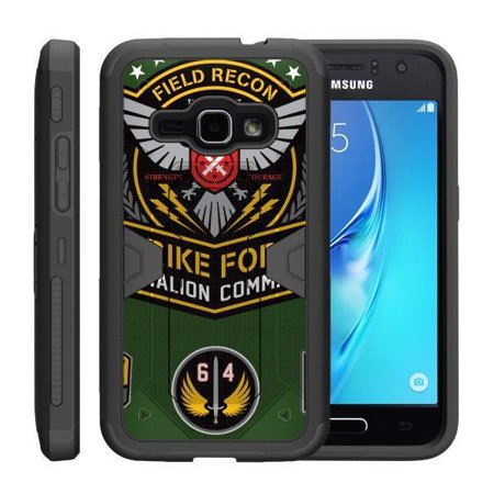 TurtleArmor ® | For Samsung Galaxy J1 J120 | Amp 2 | Express 3 | Luna [Shockproof Case] Protective Armor Hard Impact Case Kickstand Holster Belt Clip - Strike Force