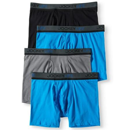 Jockey Outfit (Jockey Life® Men's Cotton Stretch Boxer Brief Bonus Pack - 4)