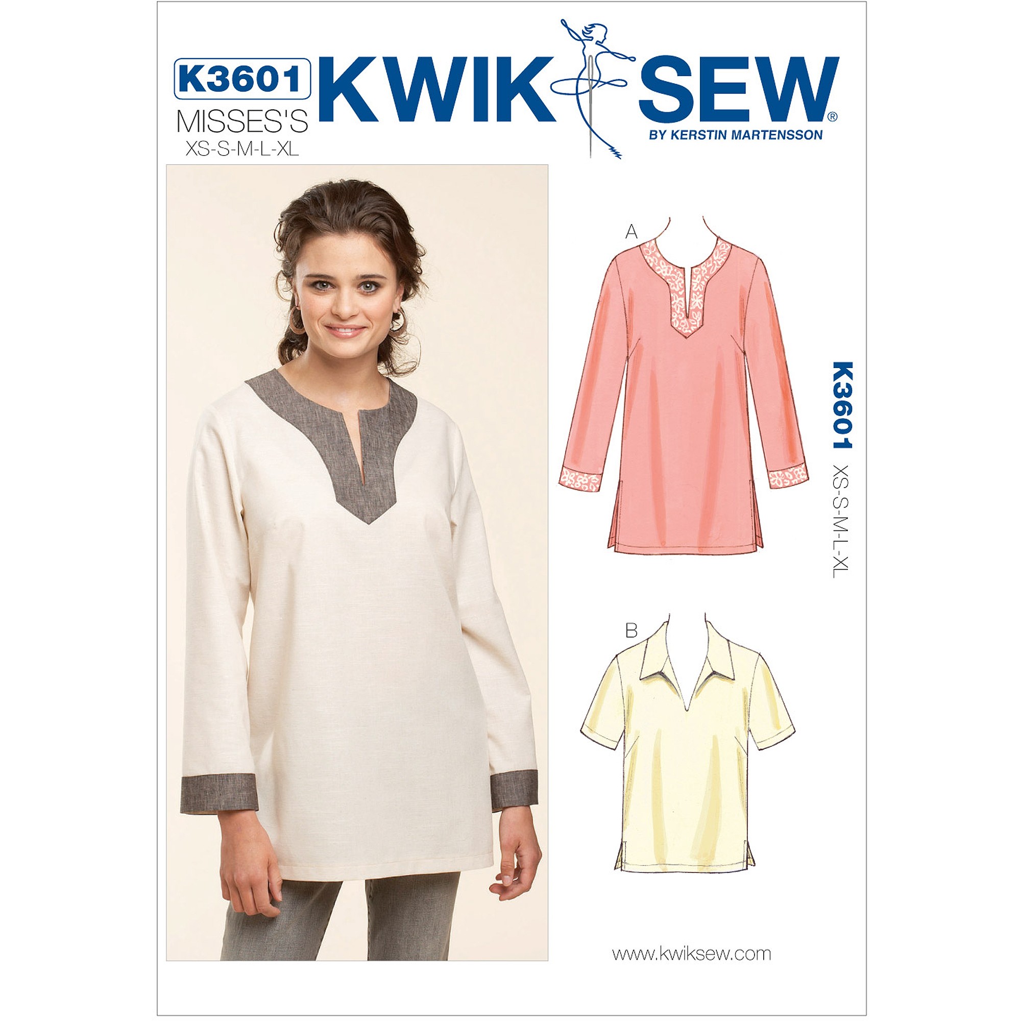 Kwik Sew Pull-Over Tops, (XS, S, M, L, XL)
