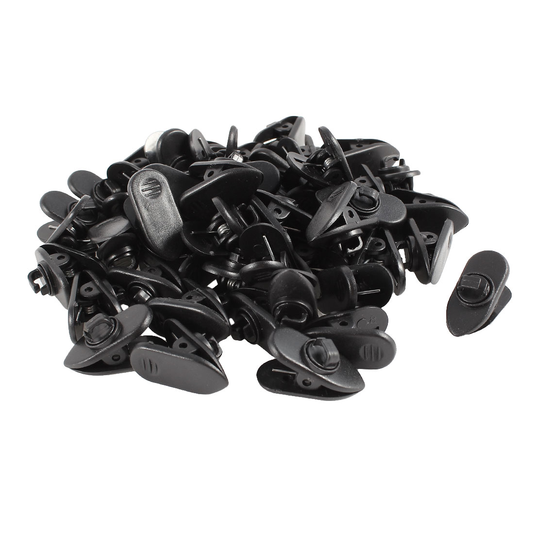 Headphone Earphone Earbud Wire Cable Clip Clamp Black 50 Pcs
