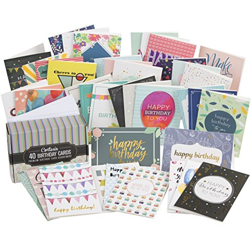 Cortesia Box Set Of 40 Assorted Birthday Cards Unique Designs And Rh Walmart Com Oversized Hamster