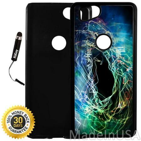 Custom Google Pixel 2 Case (Colorful Swirl Nebula) Plastic Black Cover Ultra Slim | Lightweight | Includes Stylus Pen by Innosub