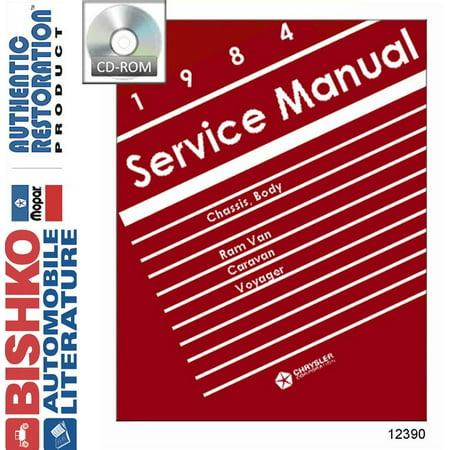 Dodge Van Manual - Bishko OEM Digital Repair Maintenance Shop Manual CD for Dodge Truck Van, Voyager 1984
