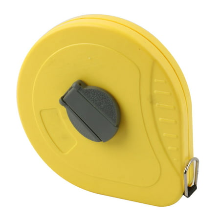 Home Plastic Shell Retractable Sewing Measure Tool Roller Tape Yellow 20M