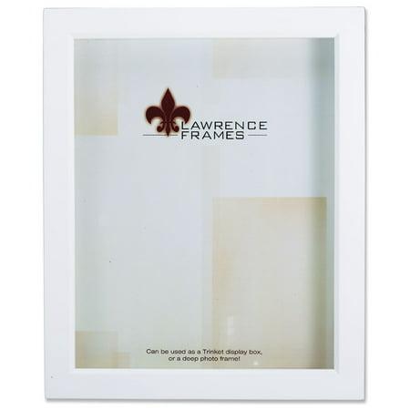 795257 White Wood Treasure Box Shadow Box 5x7 Picture Frame (5x7 Shadow Box)