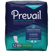 Prevail Male Guards, Maximum Absorbency, Incontinence Pads, One Size, 52 Count