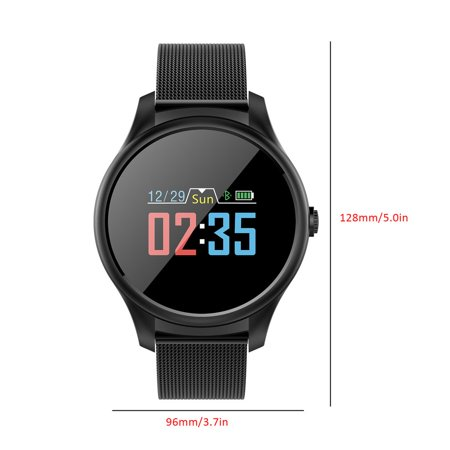 Smart Watch Big Round Dial Stainless Steel Band Heart Rate Blood Pressure Monitor Smart Wristwatch Health Tracker Watch - image 8 of 8
