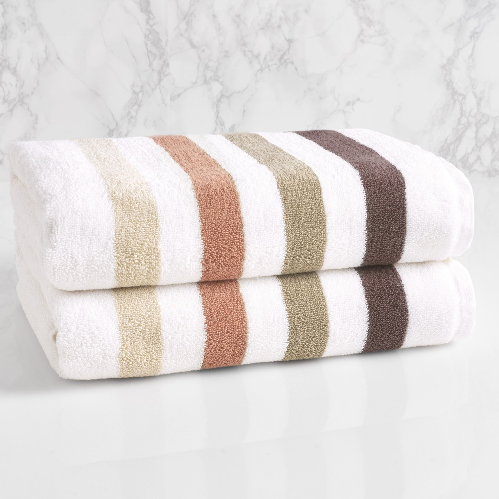 LOFT by Loftex Bars Cotton Bath Towel by Overstock