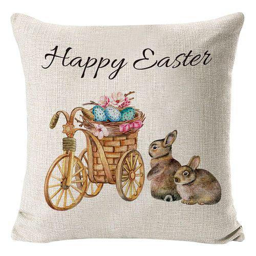 18 spring easter bunny egg pillow case