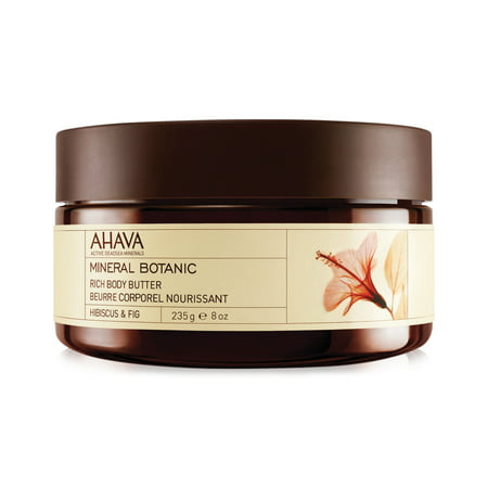 Ahava Mineral Botanic Rich Body Butter Hibiscus & Fig, 8 Oz (Mineral Butter)