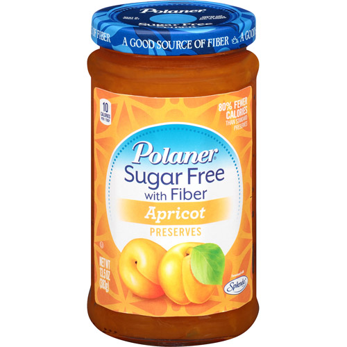 Polaner Apricot Sugar Free Preserves with Fiber, 13.5 oz