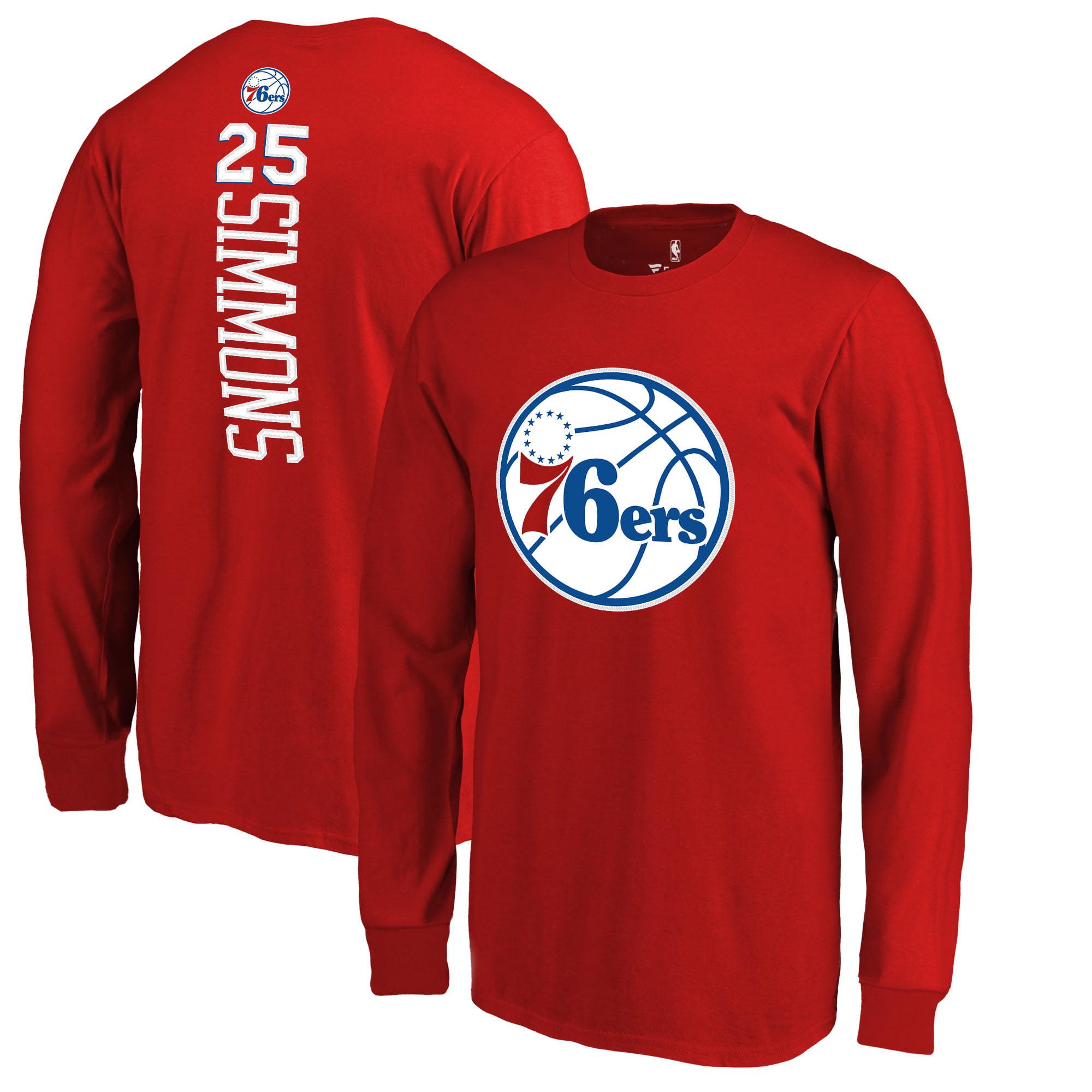 Ben Simmons Philadelphia 76ers Fanatics Branded Youth Team Backer Name & Number Long Sleeve T-Shirt - Red