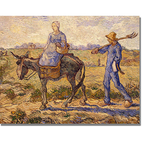 "Trademark Fine Art ""Morning Going Out to Work"" Canvas Art by Vincent van Gogh"