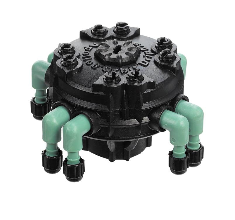 "Orbit Adjustable Flow 8-Port Drip Manifold for 1/4"" Micro Irrigation Tube, 67000"