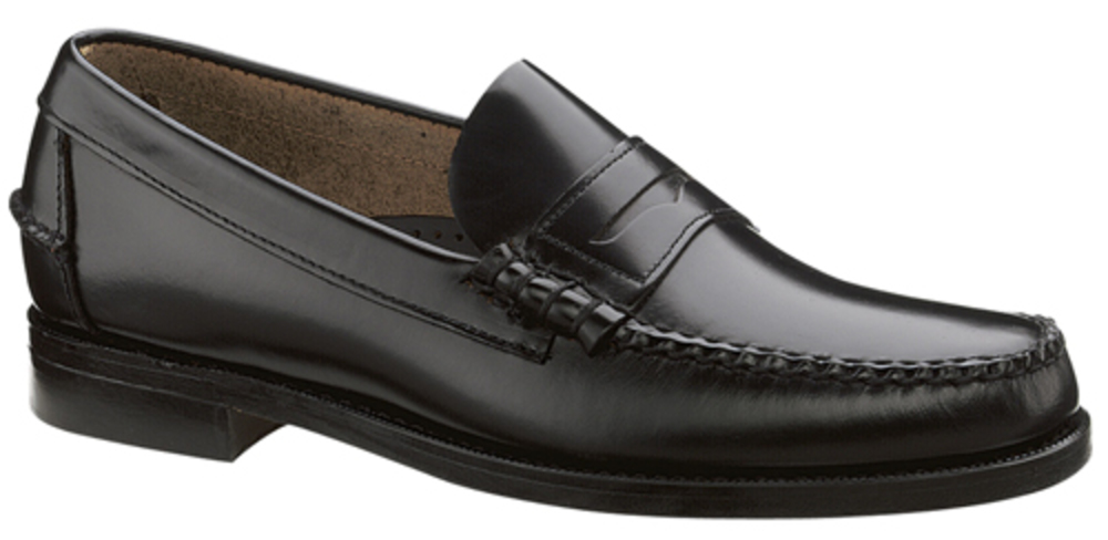 Sebago Mens Classic Loafers in Black by DAWN LEVY