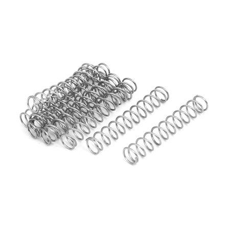 0.7mmx7mmx40mm acier inox 304 Compression Ressort Argenté 10pc - image 3 de 3