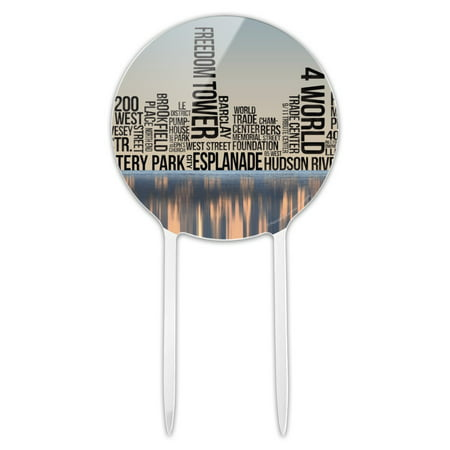 Halloween Parties In New York City (Acrylic New York City NY Word Skyline Cake Topper Party Decoration for Wedding Anniversary Birthday)