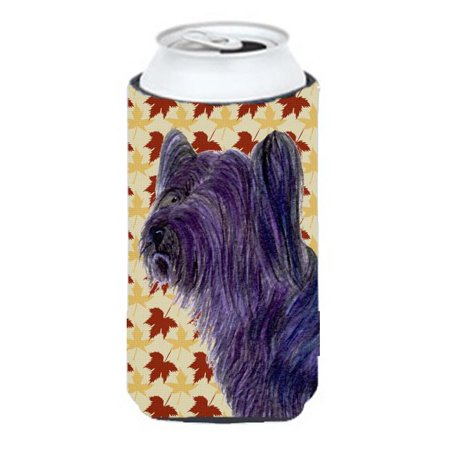 Carolines Treasures SS4393TBC Skye Terrier Fall Leaves Portrait Tall Boy bottle sleeve Hugger 22 to 24 oz. - image 1 of 1