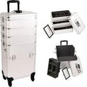 Sunrise I3361DTSL Silver Dot Trolley Makeup Case - I3361