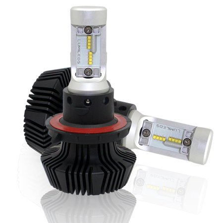 7HL 9008 H13 Dual Beam LED Headlight Bulbs Conversion Kit 8000LM 6500K with FREE ERRIOR CANBUS (S13 Conversion)