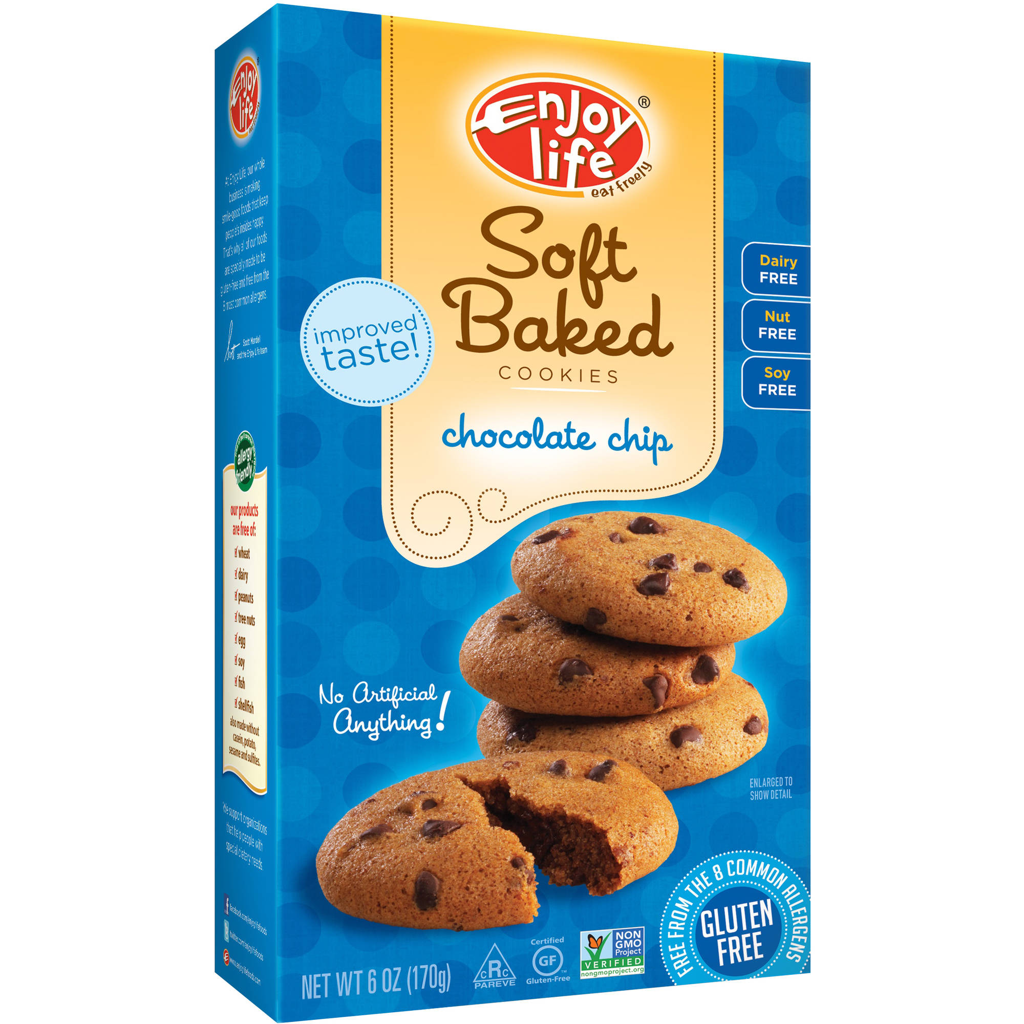 Enjoy Life Chocolate Chip Soft Baked Cookies, 6 oz (Pack of 6)