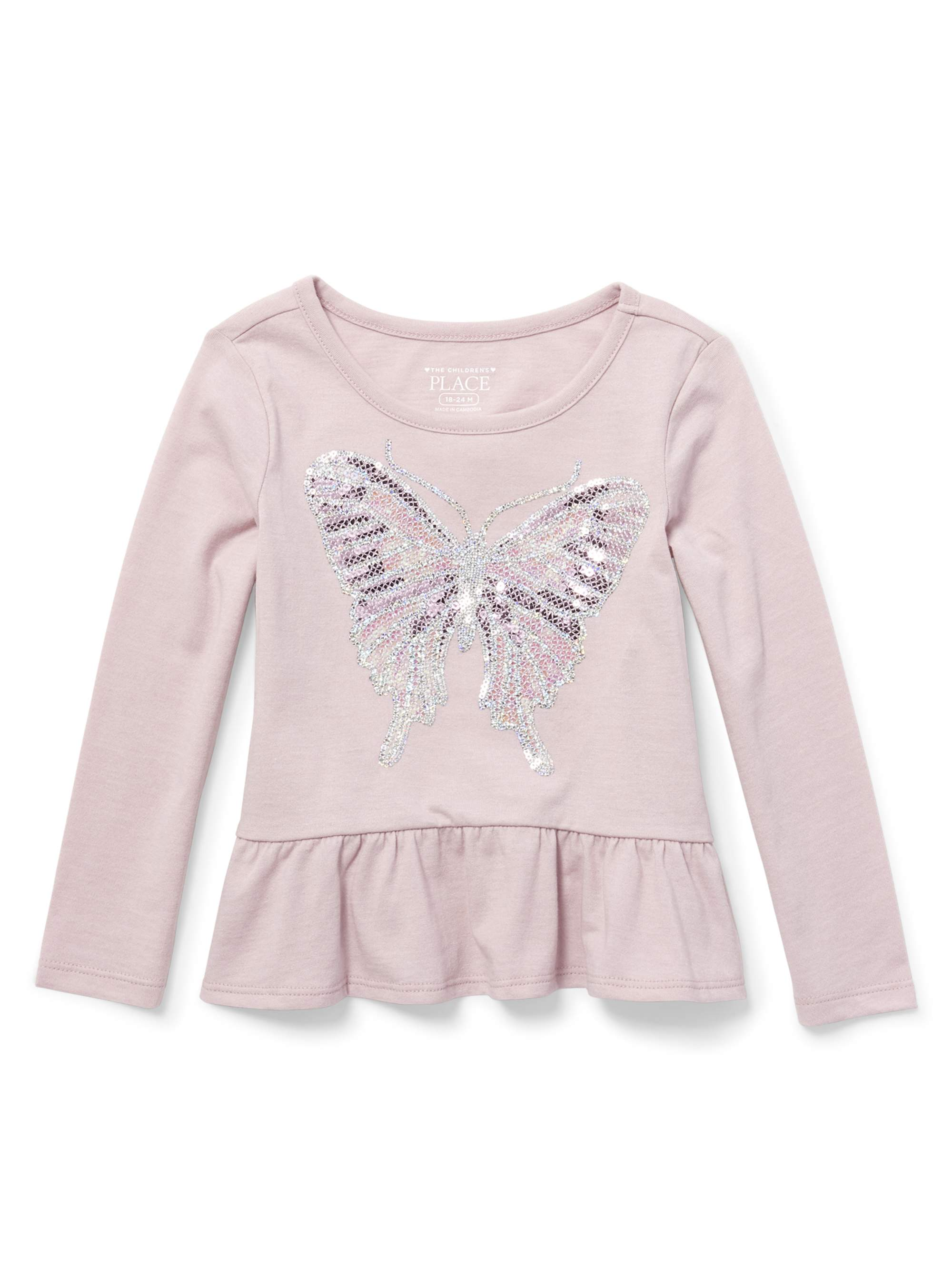 Baby And Toddler Girls Long Sleeve Peplum Top