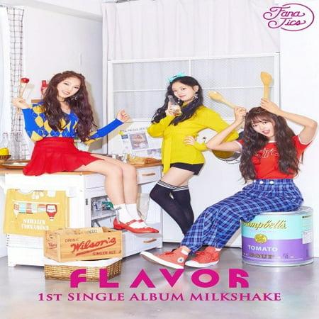 FLAVOR - MILKSHAKE (1st single album) CD+Photobook+2Photocards+Folded Poster