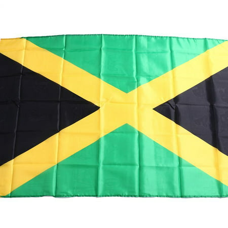 JAMAICA JAMAICAN CARIBBEAN NATIONAL LARGE 5 x 3FT FANS SUPPORTERS FLAG