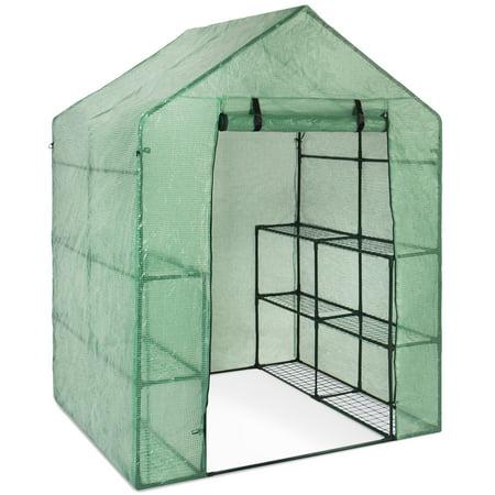Best Choice Products 3-Tier 8-Shelf Walk-In (Village Green Deluxe Walk In Greenhouse Instructions)