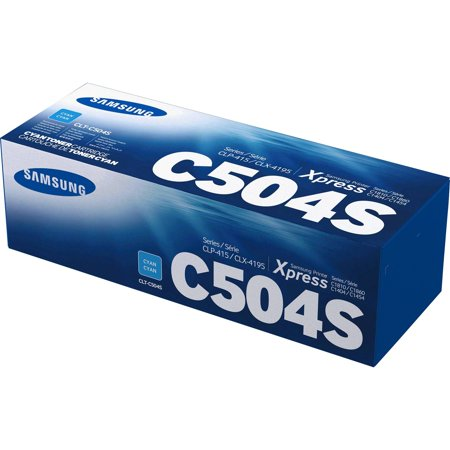 HP, HEWSU029A, Samsung CLT-C504S Cyan Toner Cartridge, 1 Each