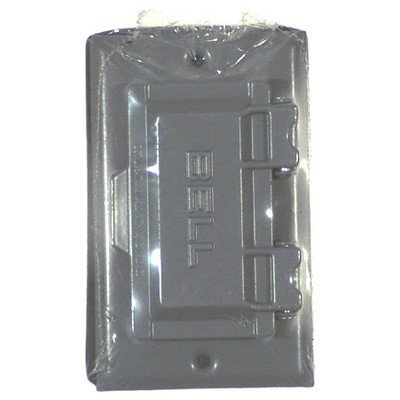 hubbellraco single gang weatherproof gfci box cover