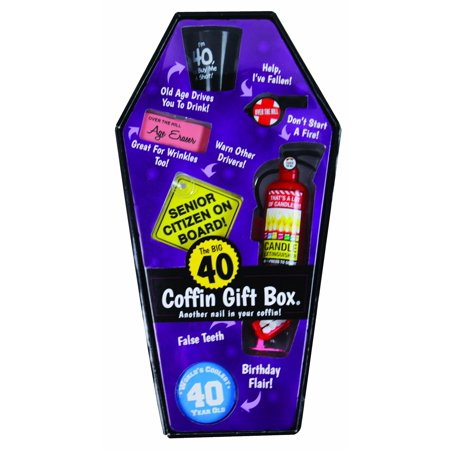 Over The Hill Gifts (Over the Hill Coffin Gift Box - 40 Years)