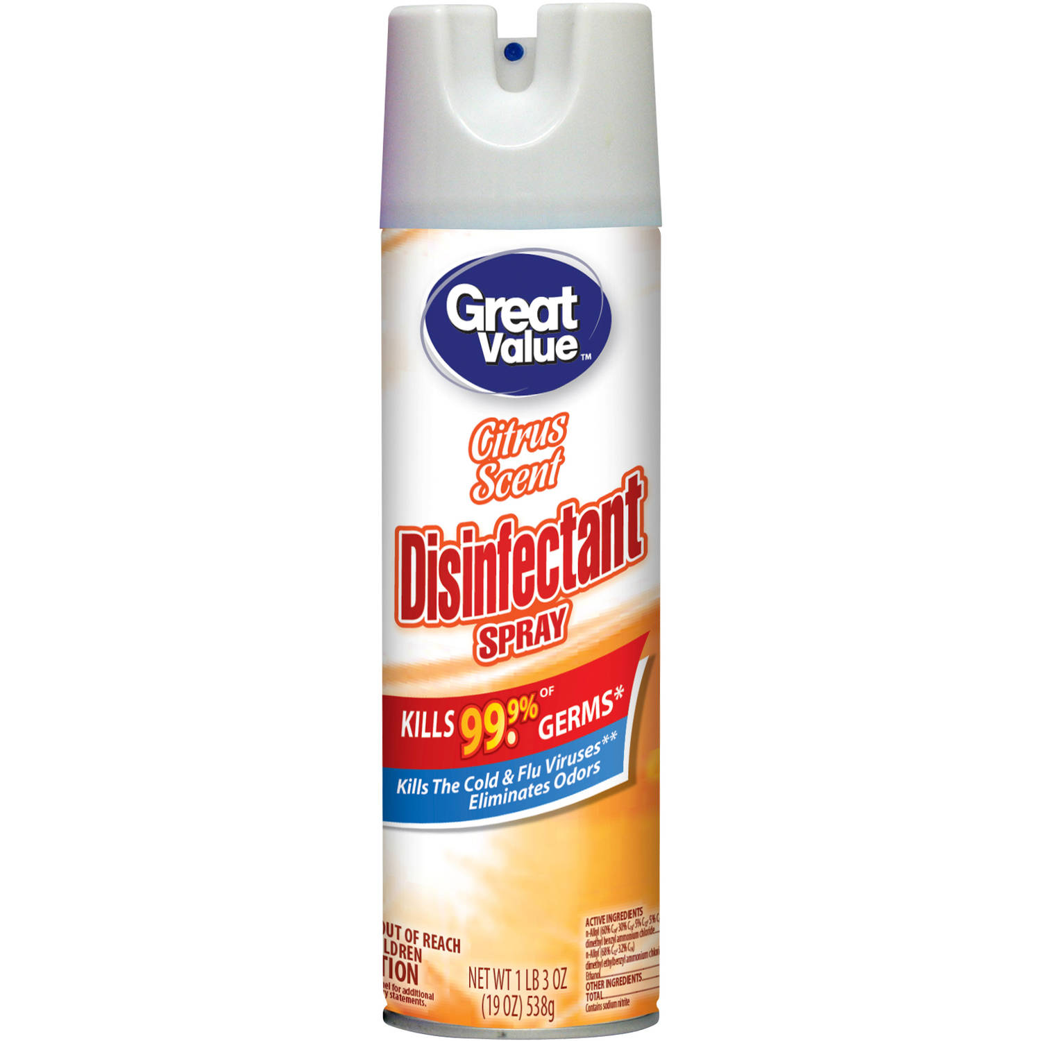 Great Value Citrus Scent Disinfectant Spray, 19 oz