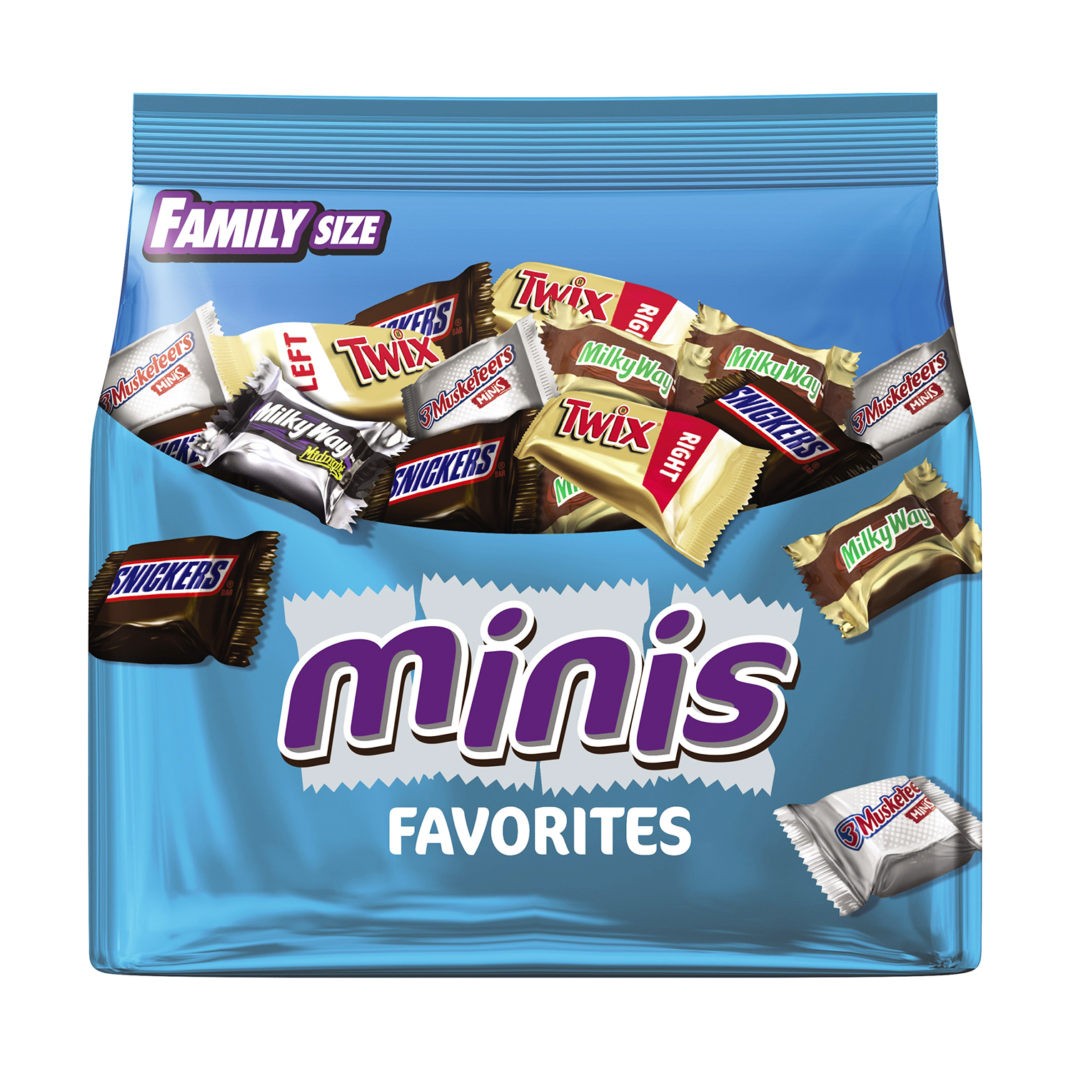 MARS Chocolate Favorites Minis Size Candy Bars Variety Mix 16.0-Ounce Family Size Bag