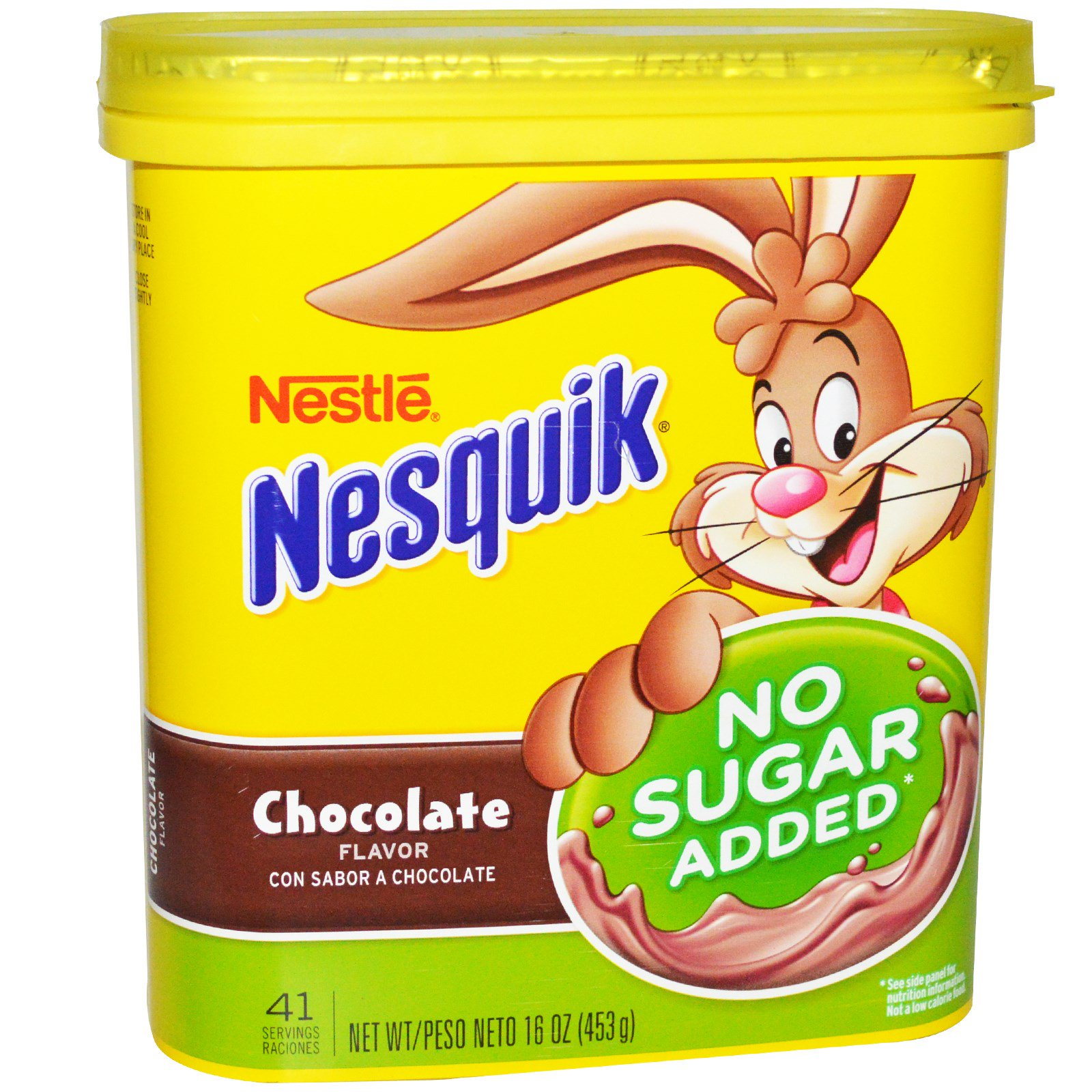 Nesquik, Nestle, Chocolate Flavor, No Sugar Added, 16 oz (pack of 1)