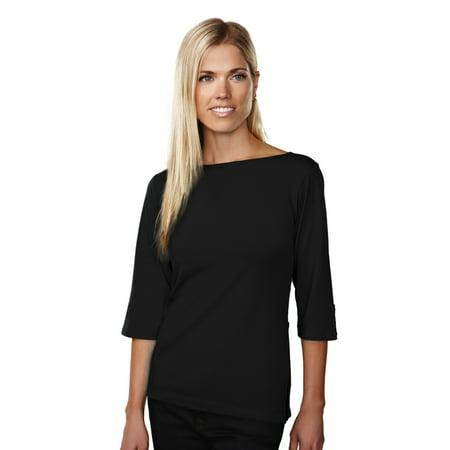 Tri-Mountain Cypress 139 Boat Neck Knit Shirt, 2X-Large, Black