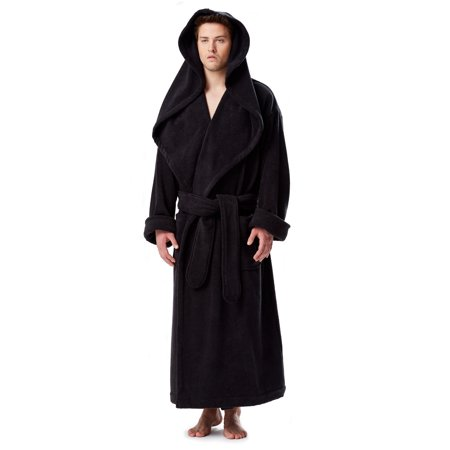 2917b584c8 Arus - Men s Luxury Medieval Monk Robe Style Full Length Hooded Turkish  Terry Cloth Bathrobe - Walmart.com