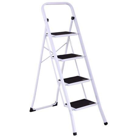 Phenomenal Gymax 4 Step Ladder Folding Steel Step Stool Anti Slip Heavy Duty With 330Lbs Capacity Machost Co Dining Chair Design Ideas Machostcouk