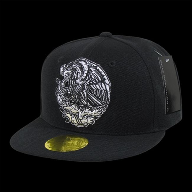 Decky N14 Mex Blk Flat Bill Eagle Caps Mexico Black